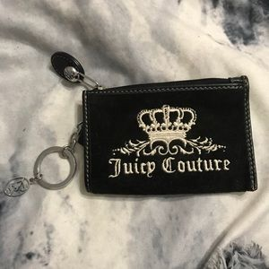 Juicy Couture Black Coin Purse Keyring